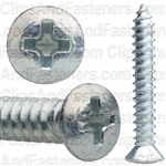 10 X 1 1/4 Phillips Oval #8 Hd Tap Screw Zinc