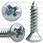 6 X 5/8 Phillips Oval Head Tap Screw Zinc