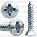 #6 X 3/4 Phillips Oval Head Tap Screw Zinc
