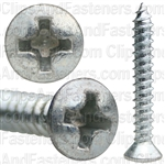 #6 X 1 Phillips Oval Head Tap Screw Zinc
