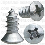 8 X 3/8 Phillips Oval Head Tap Screw Zinc