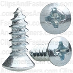 8 X 1/2 Phillips Oval Head Tap Screw Zinc