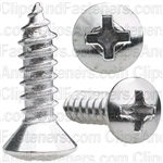 8 X 5/8 Phillips Oval Head Tap Screw Chrome