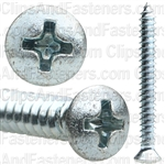 8 X 1 1/2 #6 Hd Phillips Oval Head Tap Screw Zinc