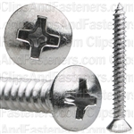 8 X 1 1/2 Phillips Oval Head Tap Screw Chrome