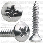 #10 X 1 Phillips Oval Head Tap Screw Chrome