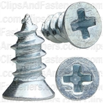 "#6 X 5/16"" Phillips Flat #4 Head Tapping Screw Zinc"