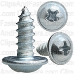 "#8 X 7/16"" Phillips Washer Head Tap Screw Zinc"