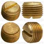 Brass Slotted Plug 1/8 Pipe Thread