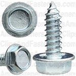 14 X 3/4 Ind. Hex Washer Head Tap Screw Zinc