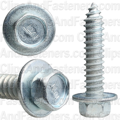 "5/16"" X 1-1/2"" Hex Head Sems Tapping Screws Zinc"