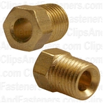 Inverted Nut Brass 3/16 Tube Size