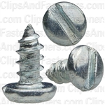 "#4 X 1/4"" Zinc Slotted Pan Head Tapping Screws"