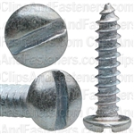"#4 X 1/2"" Zinc Slotted Pan Head Tapping Screws"