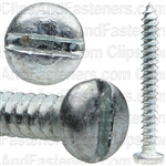 "#4 X 1"" Zinc Slotted Pan Head Tapping Screws"