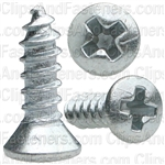 4 X 3/8 Phillips Oval Head Tap Screw Zinc