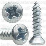 4 X 1/2 Phillips Oval Head Tap Screw Zinc