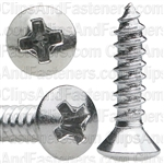 4 X 1/2 Phillips Oval Head Tap Screw Chrome