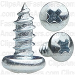4 X 1/4 Phillips Pan Head Tap Screw Zinc