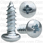 4 X 3/8 Phillips Pan Head Tap Screw Zinc