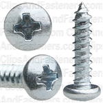 4 X 1/2 Phillips Pan Head Tap Screw Zinc