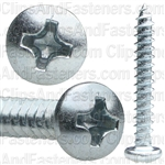 #6 X 1 Phillips Pan Head Tap Screw Zinc