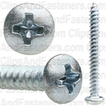 6 X 1 1/4 Phillips Pan Head Tap Screw Zinc