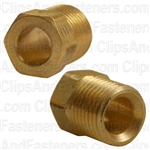 Inverted Nut Brass 1/4 Tube Size