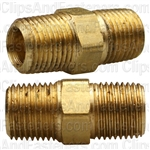 Brass Hex Nipple 1/8 Thread A 1/8 Thread B