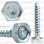 "#14 X 1-1/2"" Indented Hex Head Tapping Screws Zinc"