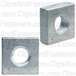 Square Nut 3/16-24 Thread Bright Zinc