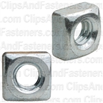 Square Nut 1/4-20 Thread Bright Zinc