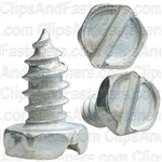 "#10 X 3/8"" Slotted Hex Head Tapping Screws Zinc"