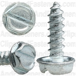 6 X 1/2 Slotted Hex Washer Head Tap Screw Zinc