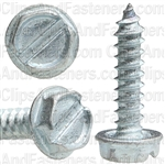 6 X 5/8 Slotted Hex Washer Head Tap Screw Zinc