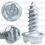 8 X 1/2 Slotted Hex Washer Head Tap Screw Zinc