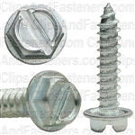 8 X 3/4 Slotted Hex Washer Head Tap Screw Zinc