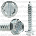 8 X 1 Slotted Hex Washer Head Tap Screw Zinc
