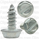 10 X 1/2 Slotted Hex Washer Head Tap Screw Zinc