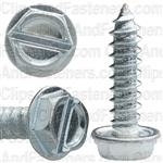 10 X 3/4 Slotted Hex Washer Head Tap Screw Zinc