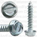 10 X 1 Slotted Hex Washer Head Tap Screw Zinc
