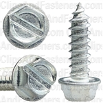 12 X 3/4 Slotted Hex Washer Head Tap Screw Zinc