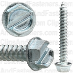 12 X 1 1/2 Slotted Hex Washer Head Tap Screw Zinc