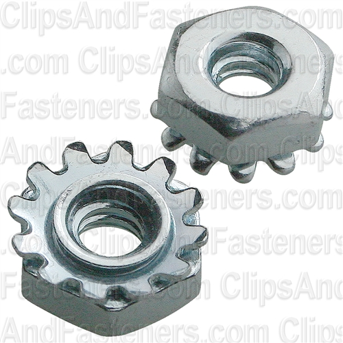 6-32 Hex Keps Lock Washer & Nut Zinc