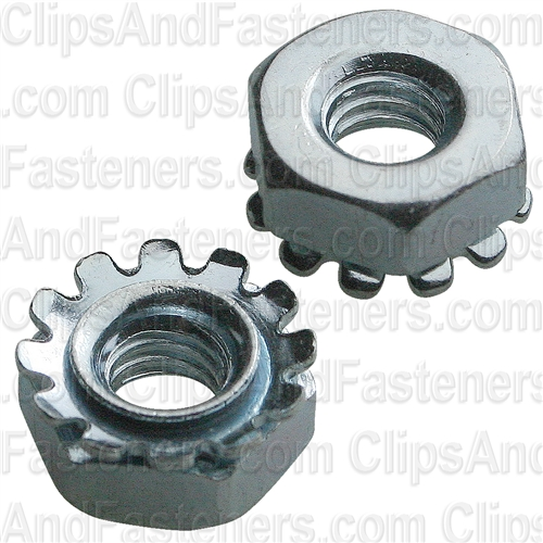 8-32 Hex Keps Lock Washer & Nut Zinc