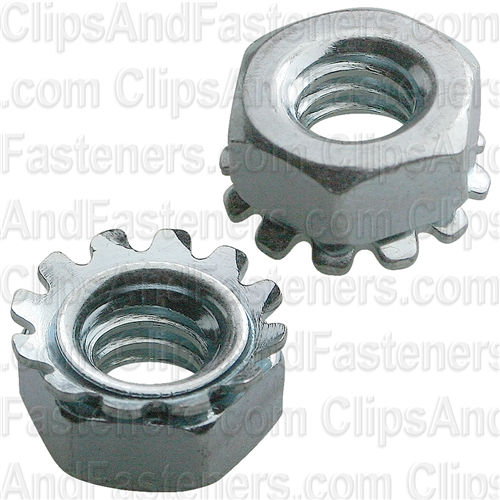 "1/4""-20 Hex Keps Lock Washer & Nut Zinc"