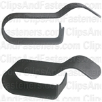 Wire Loom Clips Black 3/8 Clamping Dia