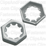 Hex Nut 3/8-24 Thread 9/16 Hex Zinc