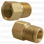 "Brass Male Connector 3/16"" Tube Size 1/8"" Pipe Thread"