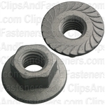 "5/16""-18 USS Spin Lock Nuts With Serrations 13/16"" Flange"